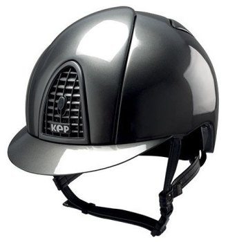 KEP Cromo Metal Metallic Riding Helmet - Grey Metallic (£499.17 Exc VAT & £599.00 Inc VAT)