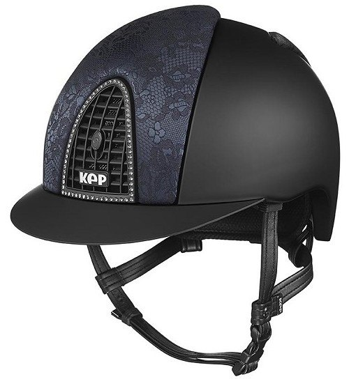 KEP Cromo Textile Black with Black Woven Silk, Black Grill & Swarovski Surr