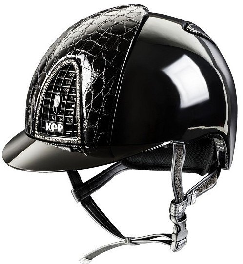 KEP Cromo Polish Black, With Crocco Style Front & Back Vents, With Black Gr