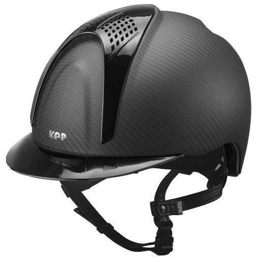 KEP E-Light Carbon Helmet - Matt Carbon With Shiny Black Visor and Vent (£7
