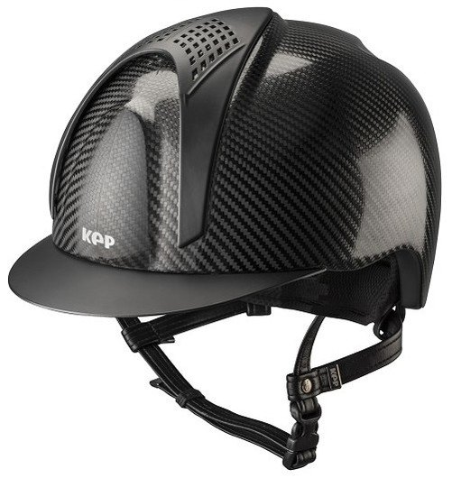 KEP E-Light Carbon Helmet - Shiny Carbon With Matt Black Visor and Vent (£7