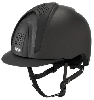 KEP E-Light Carbon Helmet - Matt Carbon With Matt Black Visor & Front & Back Vents (£832.50 Exc VAT or £999.00 Inc VAT)