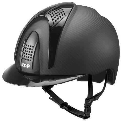 KEP E-Light Carbon Helmet - Matt Carbon With Matt Black Visor & Front & Bac