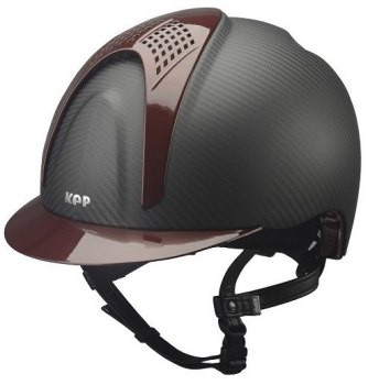 KEP E-Light Carbon Helmet - Matt Carbon With Shiny Burgundy Visor and Vent (£790.83 Exc VAT or £949.00 Inc VAT)