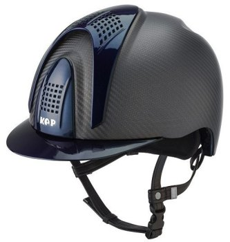 KEP E-Light Carbon Helmet - Matt Carbon With Shiny Blue Visor, Front & Back Vents (£832.50 Exc VAT or £999.00 Inc VAT)