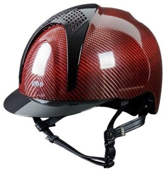 KEP E-Light Carbon Helmet - Shiny Red Carbon With Metallic Black Inserts and Visor (£937.50 Exc VAT or £1125.00 Inc VAT