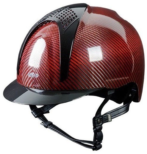 KEP E-Light Carbon Helmet - Shiny Red Carbon With Metallic Black Inserts an