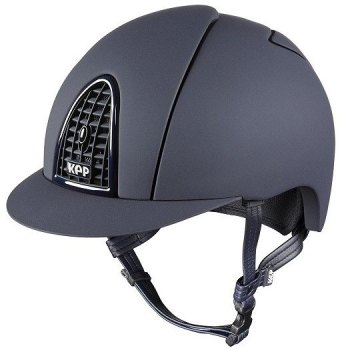 KEP Cromo Mica Helmet - Blue Shell - Matt Blue Grill & Blue Surround (£407.50 Exc VAT or £489.00 Inc VAT)