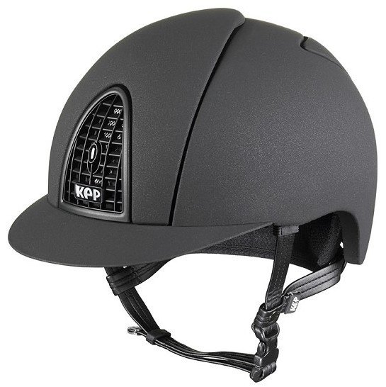 KEP Cromo Mica Helmet - Black Shell - Matt Black Grill & Surround (£407.50