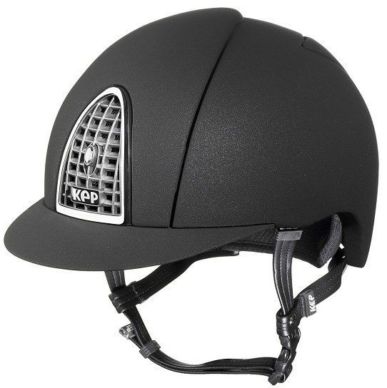 KEP Cromo Mica Helmet - Black Shell - Chrome Grill & Surround (£387.50 Exc