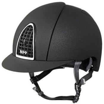 KEP Cromo Mica Helmet - Black Shell - Black Grill & Silver Surround (£387.50 Exc VAT or £465.00 Inc VAT)