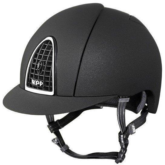 KEP Cromo Mica Helmet - Black Shell - Black Grill & Silver Surround (£387.5