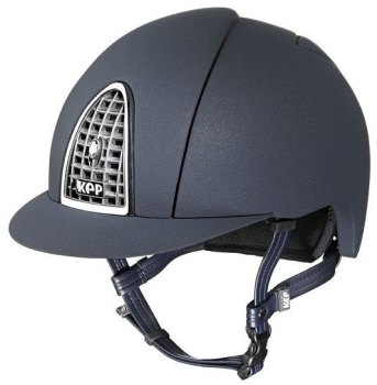 KEP Cromo Mica Helmet - Blue Shell - Chrome Grill & Surround (£387.50 Exc VAT or £465.00 Inc VAT)
