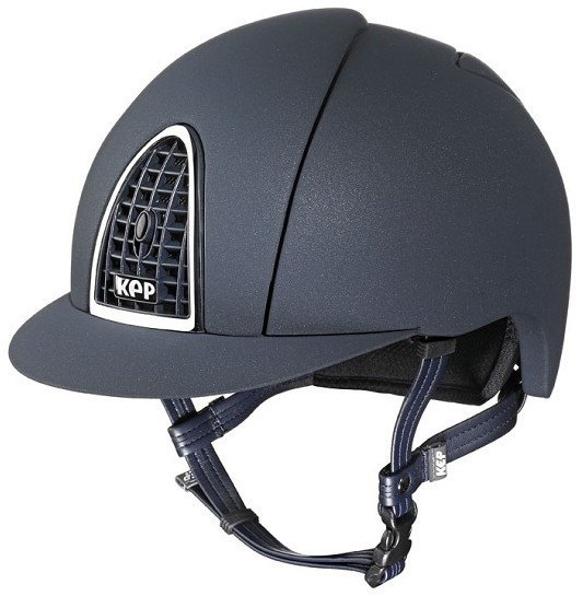 KEP Cromo Mica Helmet - Blue Shell - Blue Grill & Silver Surround (£387.50