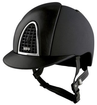KEP Cromo Textile Black With Black Leather Visor & Vent (£665.83 Exc VAT or £799.00 inc VAT)