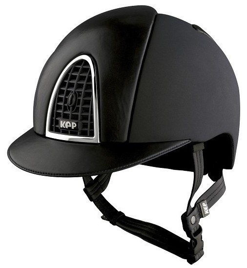 KEP Cromo Textile Black With Black Leather Visor & Vent (£629.17 Exc VAT or
