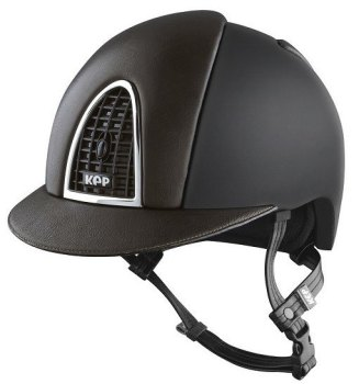 KEP Cromo Textile Black With Brown Leather Visor & Vent (£665.83 Exc VAT or £799.00 inc VAT)