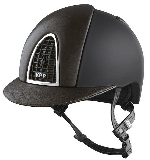 KEP Cromo Textile Black With Brown Leather Visor & Vent (£629.17 Exc VAT or