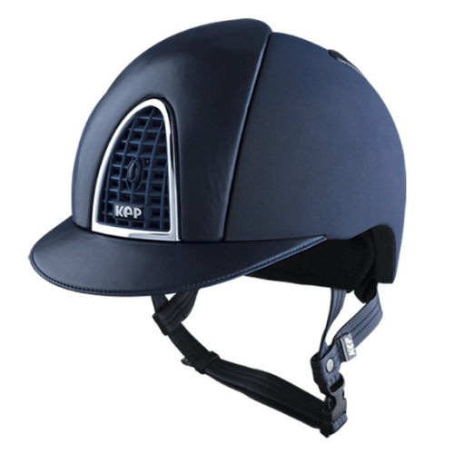 KEP Cromo Textile Blue With Blue Leather Visor & Vent (£629.17 Exc VAT or £