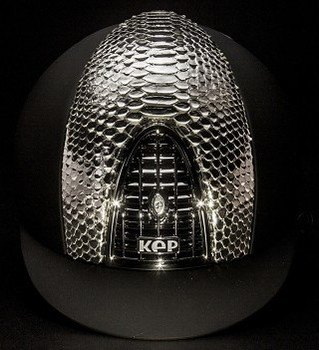 KEP Cromo Textile Black With Silver Python Vent, Silver Grill & Surround (£