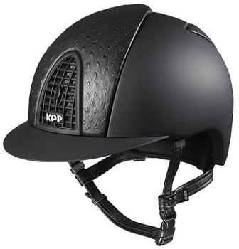 KEP Cromo Textile Black With Black Ostrich Print Leather Vent (£708.33 Exc VAT or £850.00 Inc VAT)