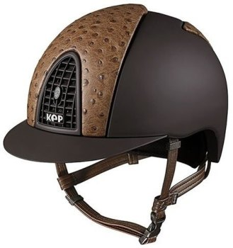 KEP Cromo Textile Brown With Beige Ostrich Print Leather Vents (£708.33 Exc VAT or £850.00 Inc VAT)