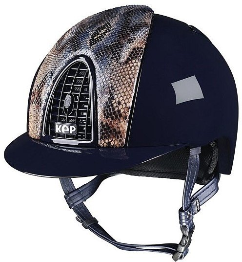 KEP Cromo Polish Blue Vegetal Naif Python, Blue Polished Grill & Vent (£637