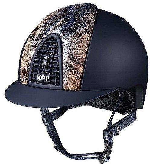 KEP Cromo Textile Blue Vegetal Naif Python, Matt Blue Grill & Vent (£637.50