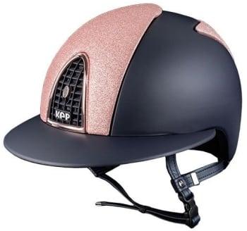 KEP Cromo Textile Blue Wide Visor with Pink Star Glitter Front & Rear Panels (£707.50 Exc VAT or £849.00 Inc VAT)