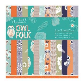 "Owl Folk - 6 x 6"" Paper Pack"