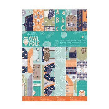 Owl Folk - A4 Ultimate Die-Cut & Paper Pack