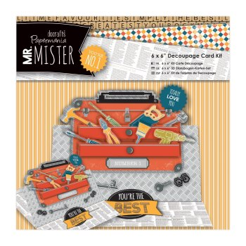 "Mr Mister - 6x6"" Decoupage Card Kit"