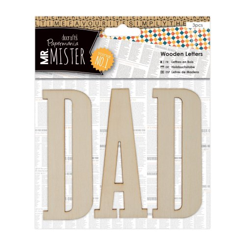 Mr Mister - wooden letters DAD