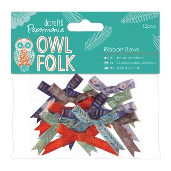Owl Folk - Ribbon Bows 12pcs