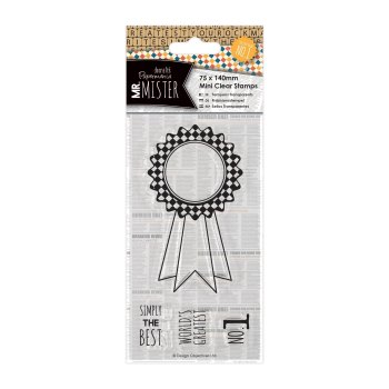 75 x 140mm mini clear stamp - Mr Mister -Rosette