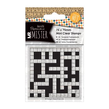 75 x 75 mini clear stamps - Mr Mister - Crossword