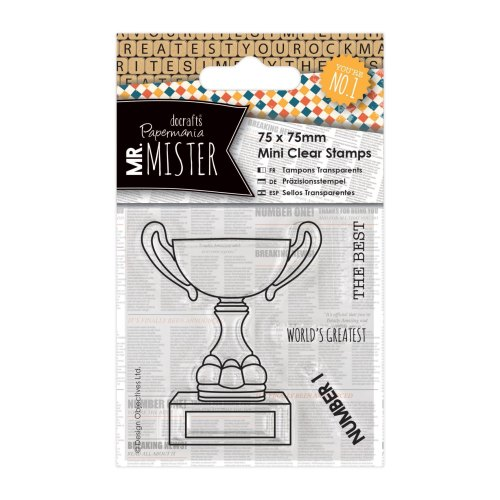 75 x 75 mini clear stamps - Mr Mister