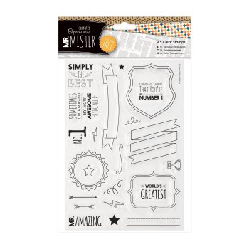 A5 clear stamps - Mr Mister
