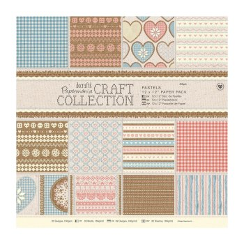 "12x12"" Pastels Paper Pack - Craft Collection"