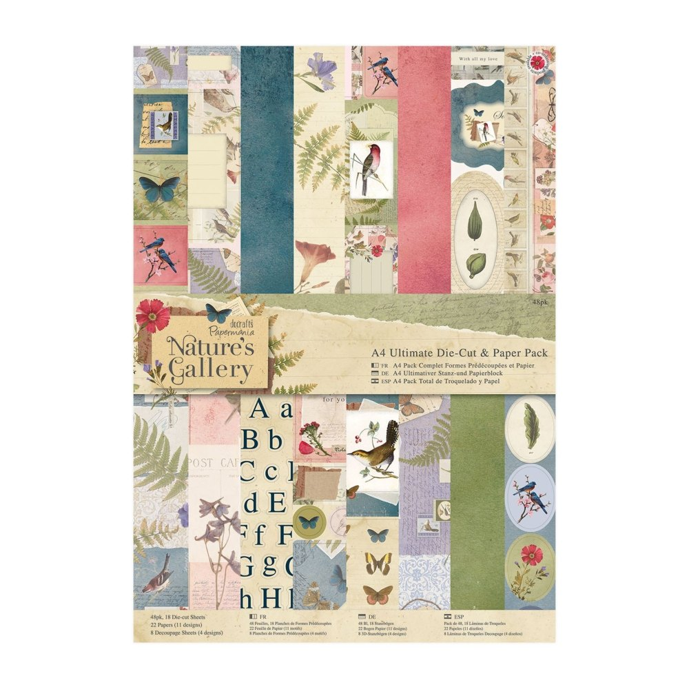 Nature's Gallery A4 Ultimate die cut & paper pack