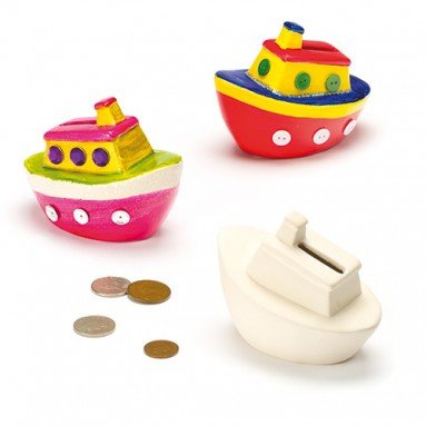 Ceramic Boat Money Box