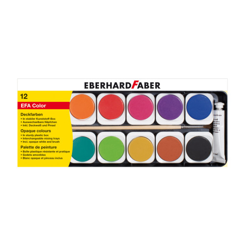 Eberhard Faber - Watercolours Paintbox 12pk