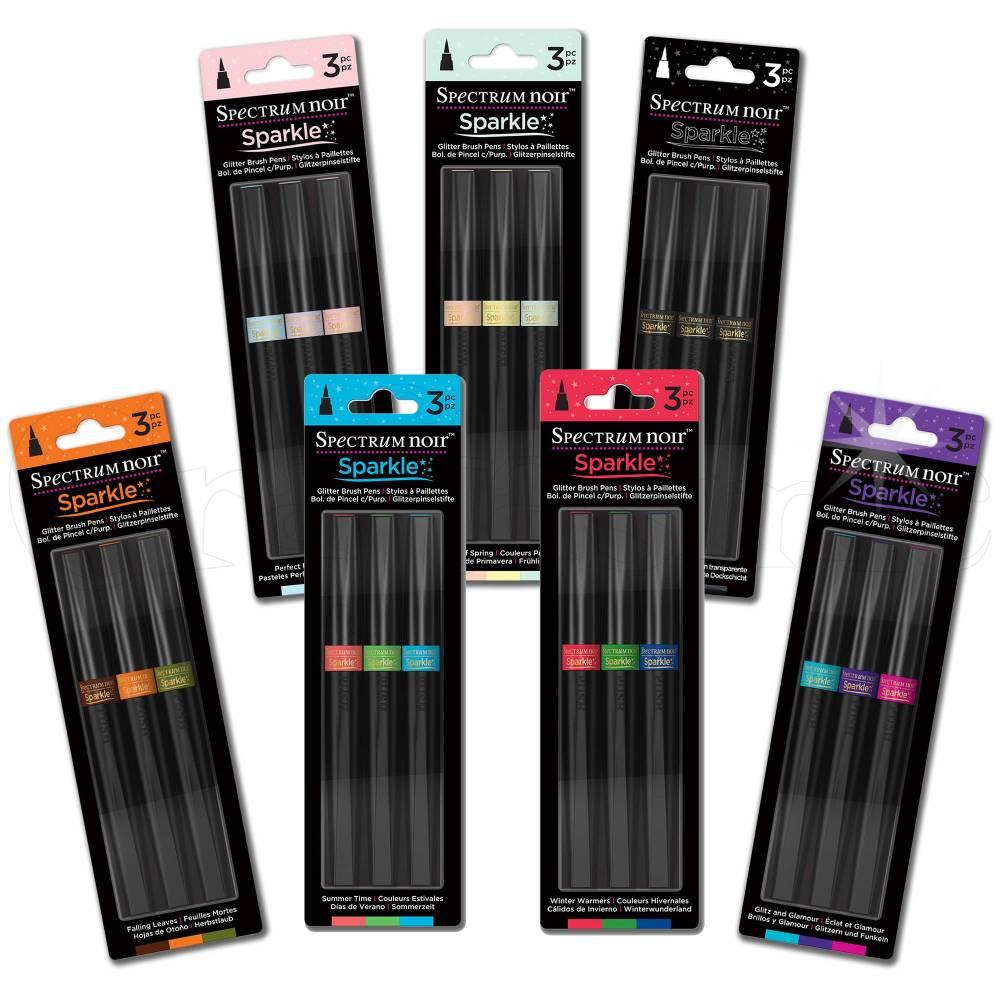 Crafters Companion Spectrum Noir Sparkle (3pk) - Perfect Pastels