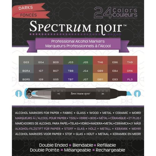Spectrum Noir 24 Pen Box Set - Darks