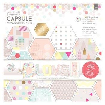 """12 x 12"""" Paper Pack (36pk) - Capsule - Geometric Neon"""