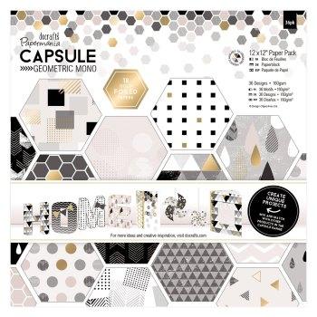 "12 x 12"" Paper Pack (36pk) - Capsule - Geometric Mono"
