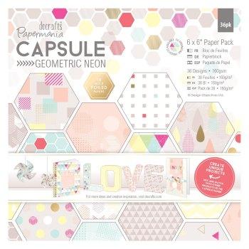 """6 x 6"""" Paper Pack (36pk) - Capsule - Geometric Neon"""