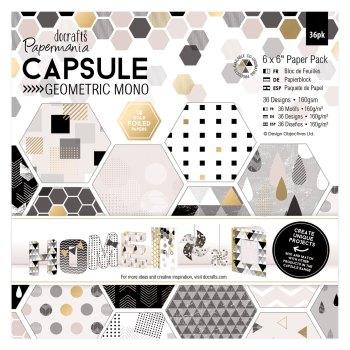 "6 x 6"" Paper Pack (36pk) - Capsule - Geometric Mono"