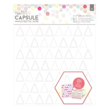 "8 x 8"" Adhesive Stencil (1pc) - Triangles - Capsule - Geometric"