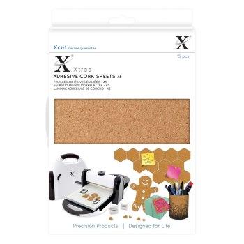 Xcut Xtras A5 Adhesive Cork Sheets (15pcs)